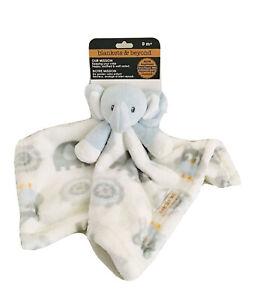 NWT Blankets & Beyond Security Blanket, Elephant  14 x 14, Blue Nunu L20