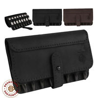 Leather Ammo Pouch Cartridge Holder Case Hunting Wallet Rifle 7.62