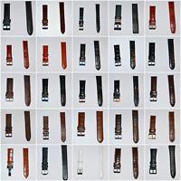 Neu Uhrenarmband Leder Uhrenband Anstoß 14mm 18mm 20mm 21mm 22mm 23mm 24mm 26mm