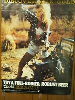 """Discover Gold Connie Woods Las Vegas 1898 Coors Extra Gold Promo Poster 19"""" x 25"""