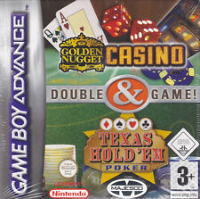 Game Boy Advance GBA **GOLDEN NUGGET CASINO + TEXAS HOLD'EM POKER** nuovo