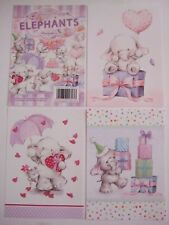 """Hunkydory 24 mixed Toppers from """"Elephants"""" see pictures see description"""