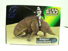 NEW STAR WARS POTF DEWBACK AND SANDTROOPER W/BATTLE LANCE BLASTER RIFLE BACKPACK
