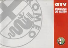 ALFA ROMEO GTV Betriebsanleitung 1995 Bedienungsanleitung 916 Handbuch BA