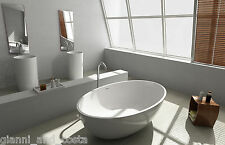 FREE STANDING BATH TUB - STONE - SOLID SURFACE - 1760x1030x550mm - Freestanding