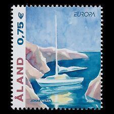 "Aland 2004 - EUROPA Stamp ""Tourism"" Painting Art Ship - Sc 224 MNH"