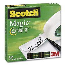Scotch Magic tape 810 invisible papel 12 mm x 33 M