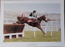 """2x Stephen Smith 22""""x16"""" Signed LIMITED EDITION HORSE RACING PRINTS CHELTENHAM"""
