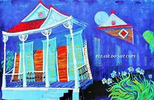 "French Quarter /""RISING MOON AT SUNSET/"" print by Richard Lewis New Orleans"