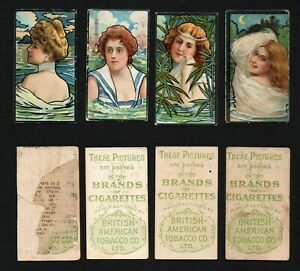 Cigarette Trade Cards : 4 B.A.T Water Girls