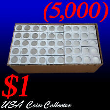 (5000) Large Dollar Size 2x2 Mylar Cardboard Coin Flips Storage | $1 Holder Bulk