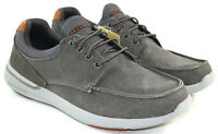 Skechers Elent-Mosen Men's Gray Relaxed Fit Memory Foam Boat Shoes Size 10.5