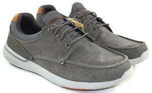 Skechers Elent-Mosen Men's Gray Relaxed Fit Memory Foam Casual Shoes Size 10.5