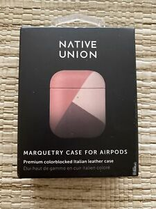 Native Union Marquetry Case– Color-Blocked, Compatible with AirPods Gen 1 & 2