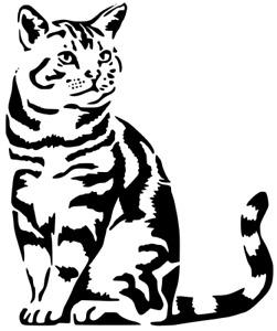 ANIMALS CAT DOG MYLAR STENCIL HOME DECOR PAINTING WALL ART 190 MICRON- A4 & A3