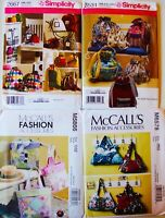 PURSE, TOTE BAG, HAT or SEWING ACCESSORY BAG Quilt or Sew Pattern ~ UC ~U Pick!