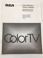 Vintage RCA Color Television Owners Manual Operating Instruction 1989