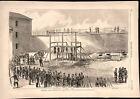 Execution of Civil War Conspirators in Washington D.C. 1865 historical print