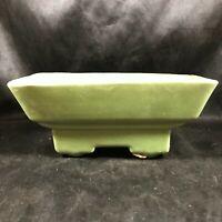 Vintage Green Ceramic Planter 364 USA Footed