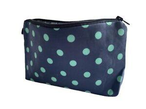 Navy/Mint Polka Dot Cosmetic Bag
