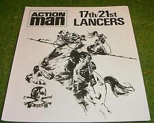 VINTAGE ACTION MAN 40th MANUAL LEAFLET 17th/21st LANCERS