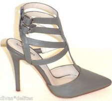 Women's ShoeMint Gugliemi Strappy Pump  Color: Grey Size: 7