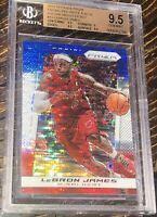 🔥2013-14 LeBron James PANINI PRIZMS RED WHITE BLUE PULSAR SPARKLE #19 BGS 9.5