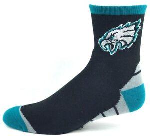 Philadelphia Eagles Black & Gray Block Bottom Quarter Socks