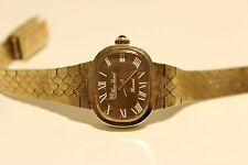 "VINTAGE RARE BEAUTIFUL GOLD PLATED LADIES SWISS MECHANICAL WATCH""LUCIEN PICCARD"""
