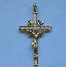 14k Yellow Gold Crucifix Cross Pendant NOT SCRAP
