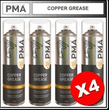 4 x PMA Copper Grease High Temperature Aerosol Maintenance Spray 500ml COPGR