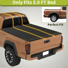Soft Folding TRI-FOLD Truck Bed Tonneau Cover 5' Fit for 2016-2019 Toyota Tacoma