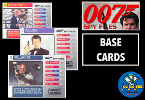 2002 James Bond 007 Spy Files - Pick Cards - Allies Locations Villains Q Branch