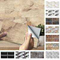 9 Pcs/set 3D Self-Adhesive Kitchen Wall Tiles Bathroom Mosaic Tile Sticker Decor