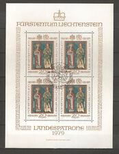 Europa Liechtenstein 680-83 Kleinbogensatz Sauber Mit Ersttagsonderstempel Liechtenstein Mi-nr.