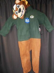 Green Bay Packers 'See My Hood' Children's Hood Pajamas