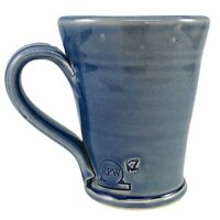 Rowe Pottery Works Blue Mug Coffee Cup Handmade Handthrown Stoneware RPW Vintage