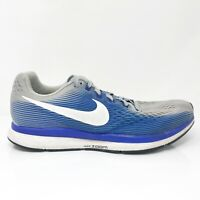 Nike Mens Zoom Pegasus 34 880557-007 Blue Running Shoes Lace Up Low Top Size 9.5