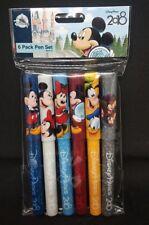 Disney Parks 2018 Mickey Mouse & Friends 6 Pack Pen Set Black Ink Chip Dale NEW