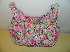 "VERA BRADLEY ""PINWHEEL PINK"" CARGO SLING CROSSBODY BAG RETIRED AND RARE EUC"