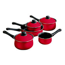 5 Piece Ecocook Non Stick Kitchen Steel Saucepan & Lids Milk Pan Frying Pan Set