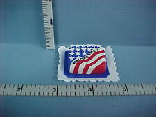 "Dollhouse Miniature Patriotic Sheet Cake ""Welcome Home"" #K2327 - 1/12th Scale"