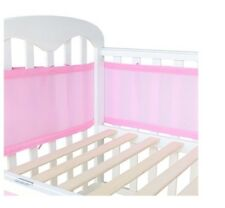 Life Tree Breathable Crib Bumper Liner In Pink