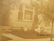 1900 Cabinet Photo of 3 People in Yard of Dome Family Home Ninth St.Tell City IN
