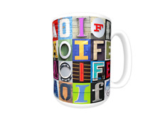 AOIFE Coffee Mug / Cup featuring the name in photos of sign letters