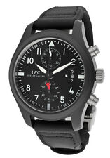 IWC Pilot's Chronograph Flyback TOP GUN Mens Watch Black Ceramic 46mm IW388001