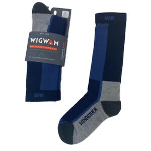 Wigwam I7764 - Men's Windriver Merino Wool Outdoor Crew Socks - Blue - Closeout