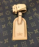 Louis Vuitton Leather Name Tag w/ Strap for Keepall Older Style 100% Authentic