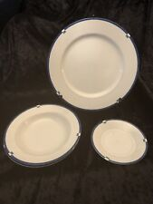 Mikasa Cayman Pattern -4 Pieces-1-Dinner Plate, 2-Rimmed Soup Bowls, 1-Saucer