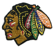 "CHICAGO BLACKHAWKS NHL HOCKEY 1.75"" TEAM LOGO PATCH"